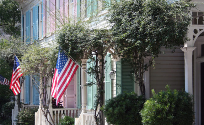 Colorful Rowhomes, Savannah, GA