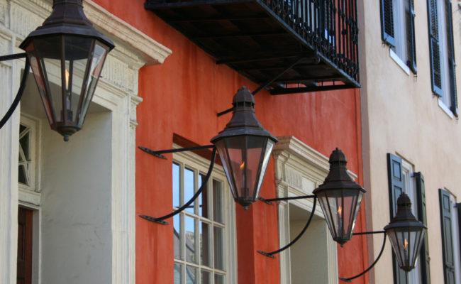 Lamps outside Maj. Peter Bocquet's House, c1770
